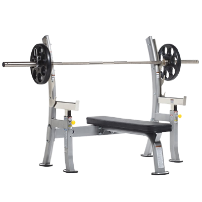 TUFFSTUFF FITNESS EVOLUTION OLYMPIC BENCH WITH SAFETY STOPPERS