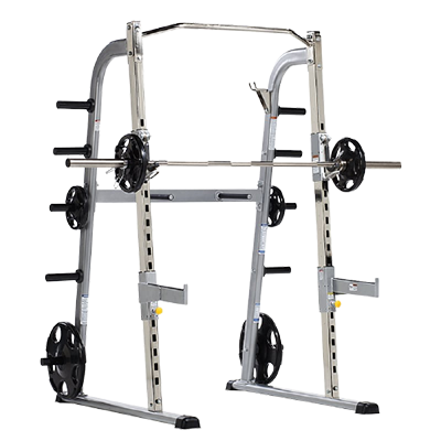 TUFFSTUFF FITNESS EVOLUTION HALF CAGE WITH SAFETY STOPPERS AND DIP HANDLES